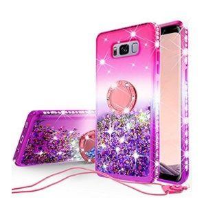 Samsung Galaxy S8 glitter phone case